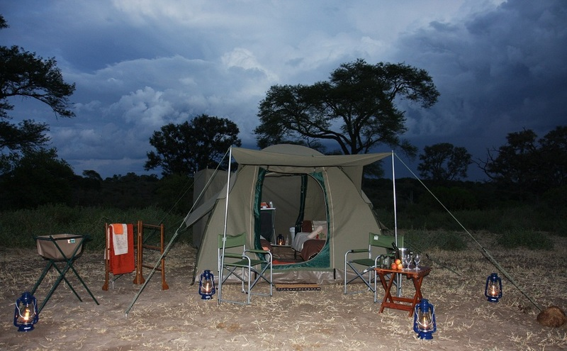Dome Tents Night red